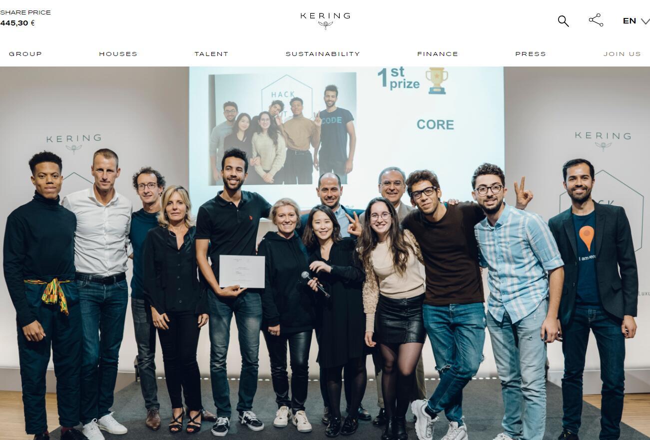 将编程技术应用于可持续时尚,开云集团举办首届黑客马拉松