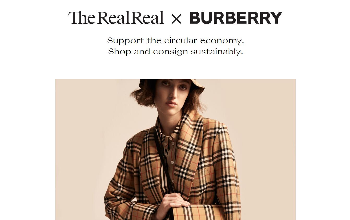Burberry 与二手奢侈品寄售网站 The RealReal 合作,鼓励消费者旧衣转卖