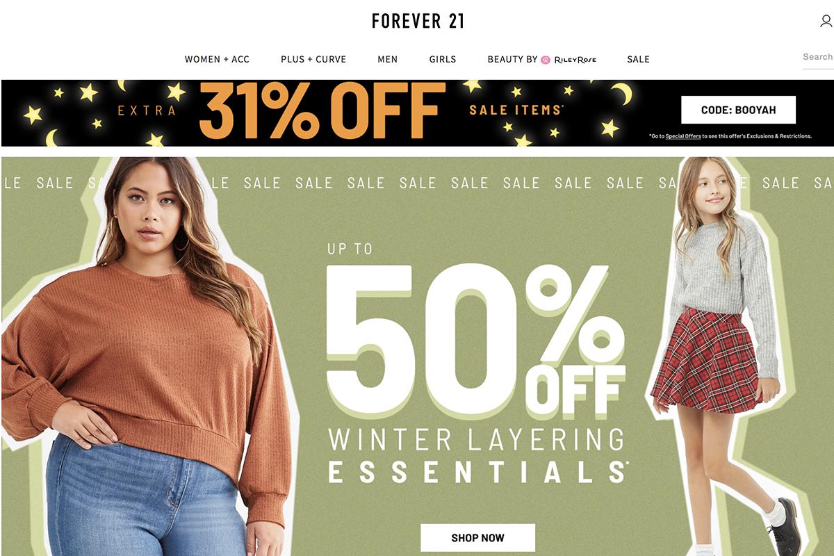 传:Forever 21 获业主减租,得以保住 60多家美国门店