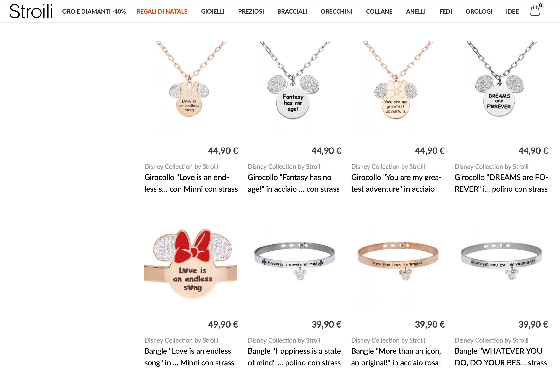 年销售2.2亿欧元的意大利轻奢珠宝品牌 Stroili 与迪士尼开展跨界联名