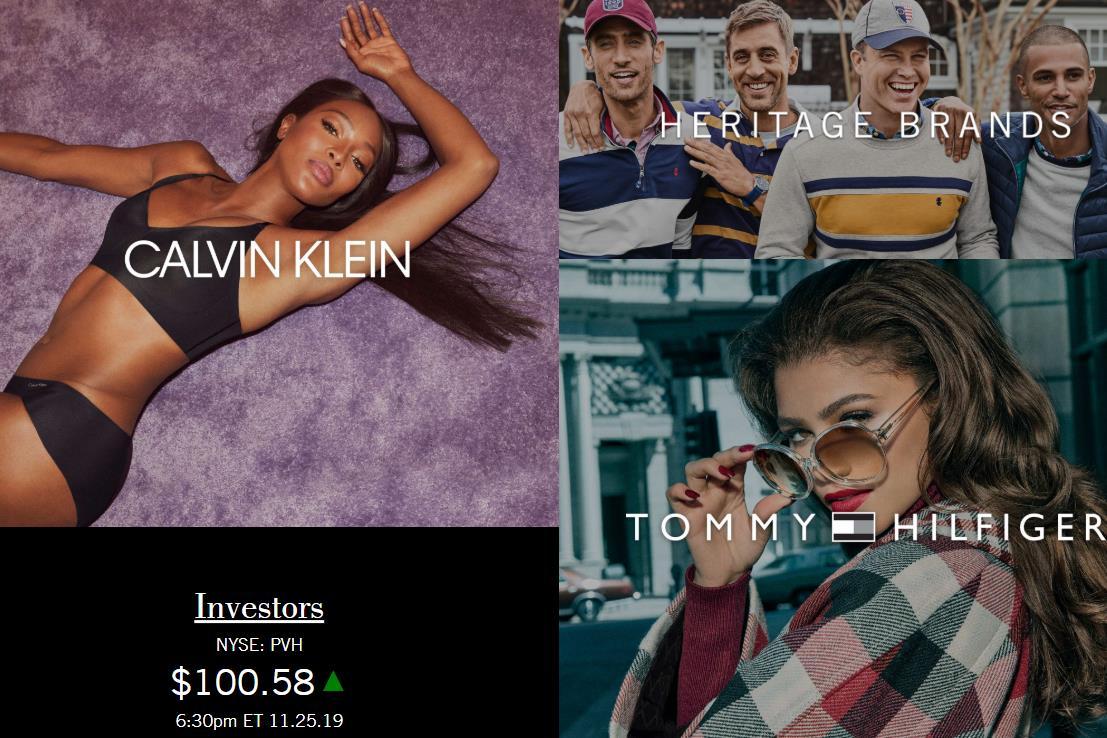 Calvin Klein 与 Tommy Hilfiger 欧洲市场需求增长,美国时尚集团 PVH 上调 2019财年利润预期