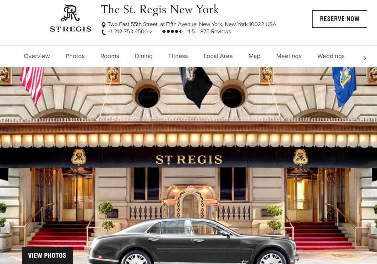 卡塔尔投资局以3.1亿美元收购万豪集团旗下纽约瑞吉酒店