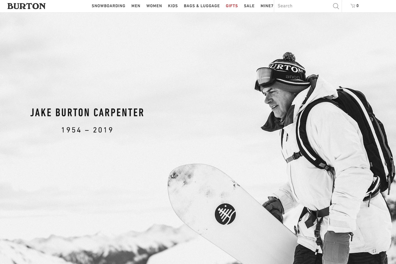 单板滑雪灵魂人物 Jake Burton Carpenter 因病去世,享年65岁