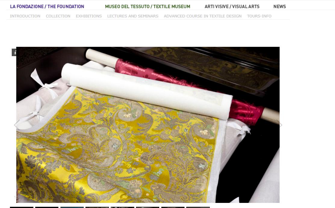 意大利最大丝绸制造商 Ratti 集团将主持修复10本纺织品历史样本册