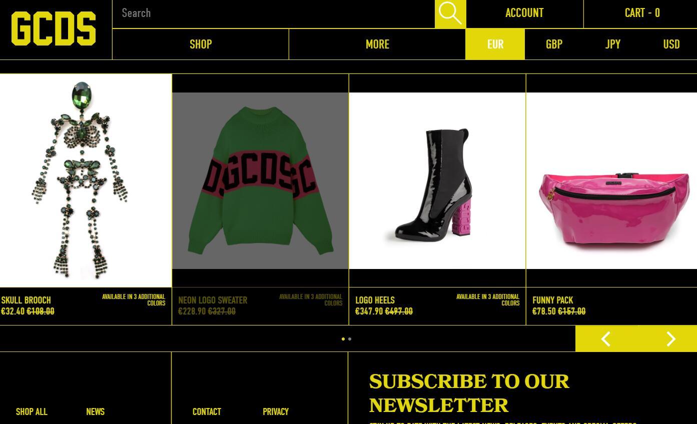 意大利街头服饰品牌 GCDS 开拓国际市场,年销售有望突破2000万欧元