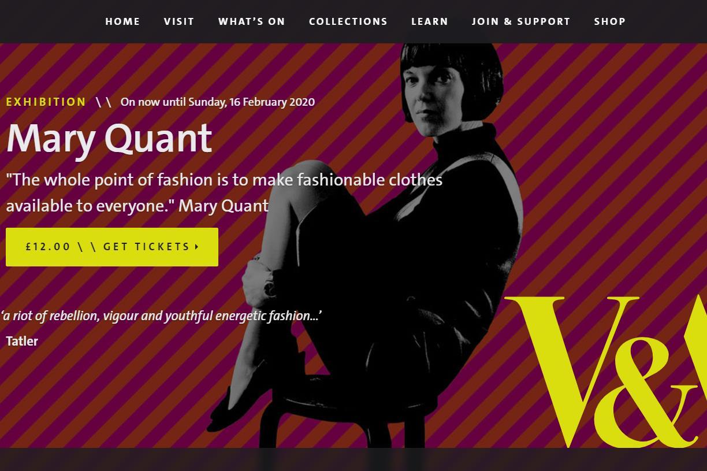 """""""迷你裙之母""""Mary Quant 个人回顾展参观者超40万人次,跻身伦敦V&A博物馆最受欢迎的时尚展览之列"""