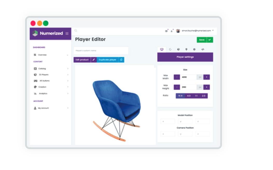 法国初创公司 Numerized 推出 3D可视化解决方案,帮助电商平台提高客户转化率