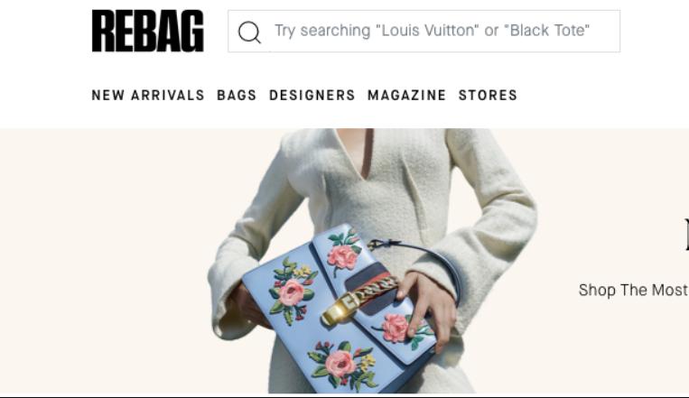 疫情期逆势增长,美国二手奢侈品包袋寄售网站Rebag完成1500万美元D轮融资