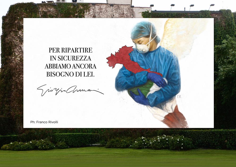 Armani 意大利门店率先重新开业,宣布针对疫情第二阶段新举措