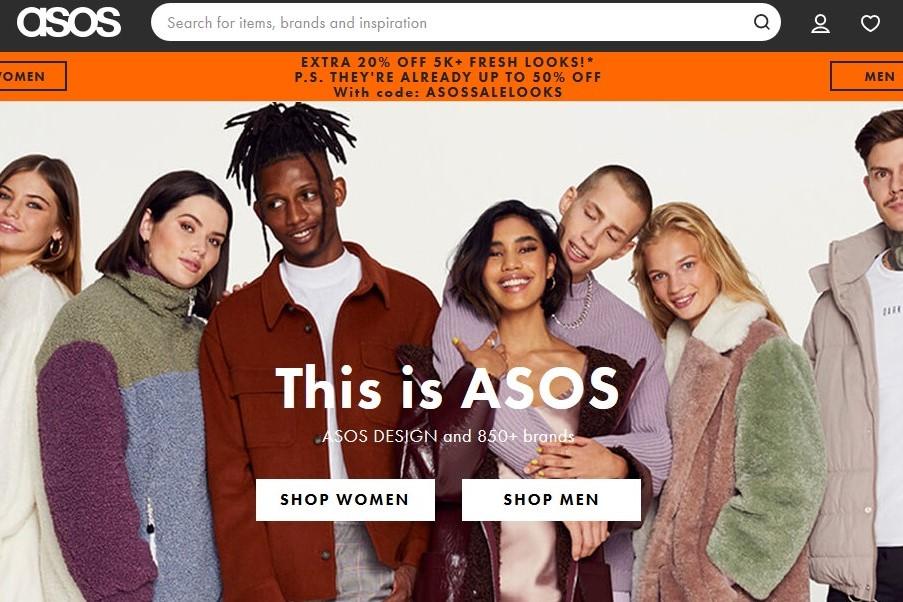 英国时尚电商 ASOS 疫情期的4个月零售销售额同比增长10%,国际用户数量增长强劲