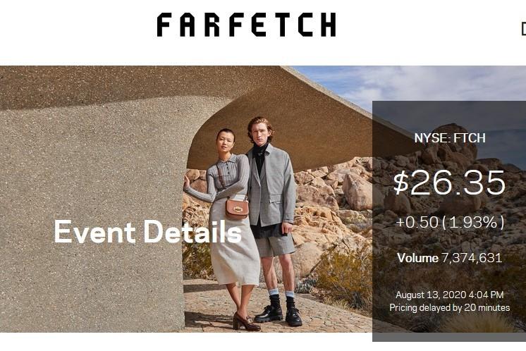 英国奢侈品电商 Farfetch上季度活跃用户同比大增 42.4%,董事会自IPO以来首次重大改组