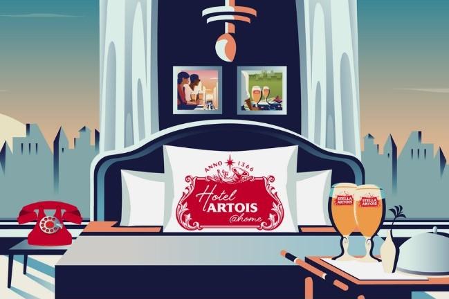 比利时啤酒品牌 Stella Artois 携手明星名人,让你坐在家中就可享受五星级酒店服务