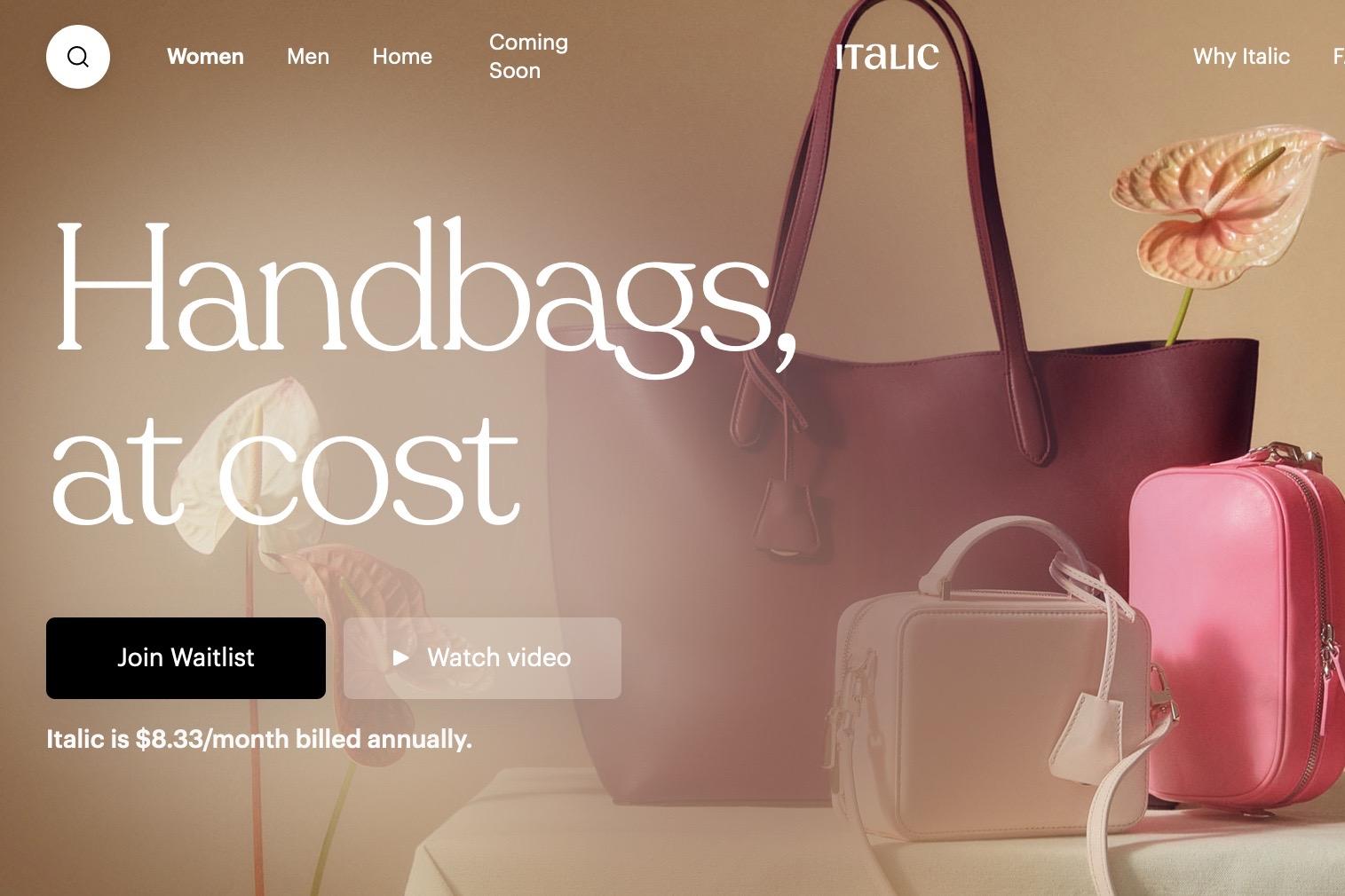 如何打造新一代DTC奢侈品牌?洛杉矶创业公司 Italic 从会员制电商入手