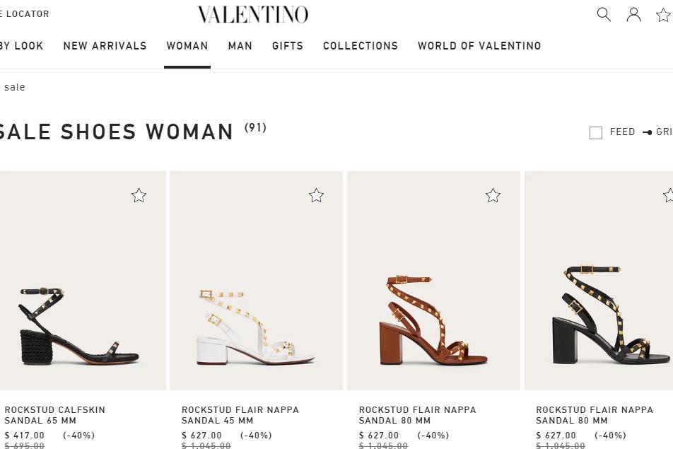 意大利奢侈品牌 Valentino 为铆钉鞋 Rockstud 申请专利保护