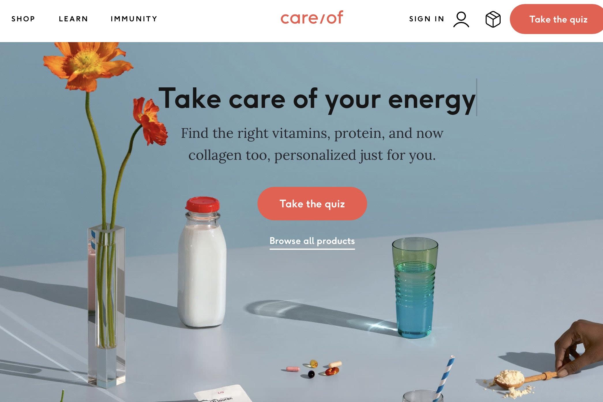 德国拜耳控股美国个人营养品定制初创公司 Care/of,估值2.25亿美元