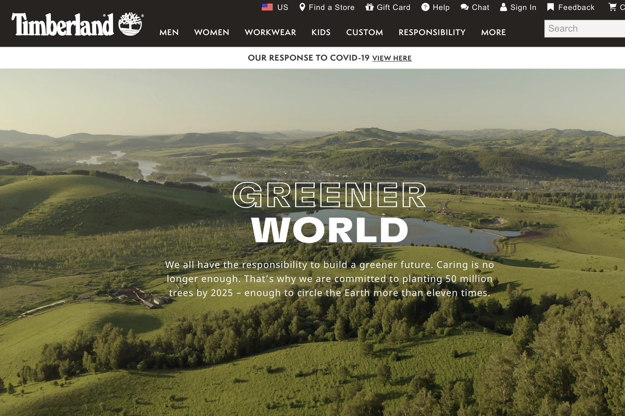 美国户外生活方式品牌 Timberland 承诺到2030年实现碳中和