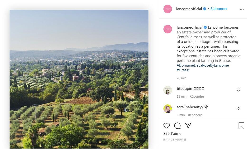 Lancôme 兰蔻收购法国格拉斯一处种植园,扩大玫瑰等芳香类作物的产能