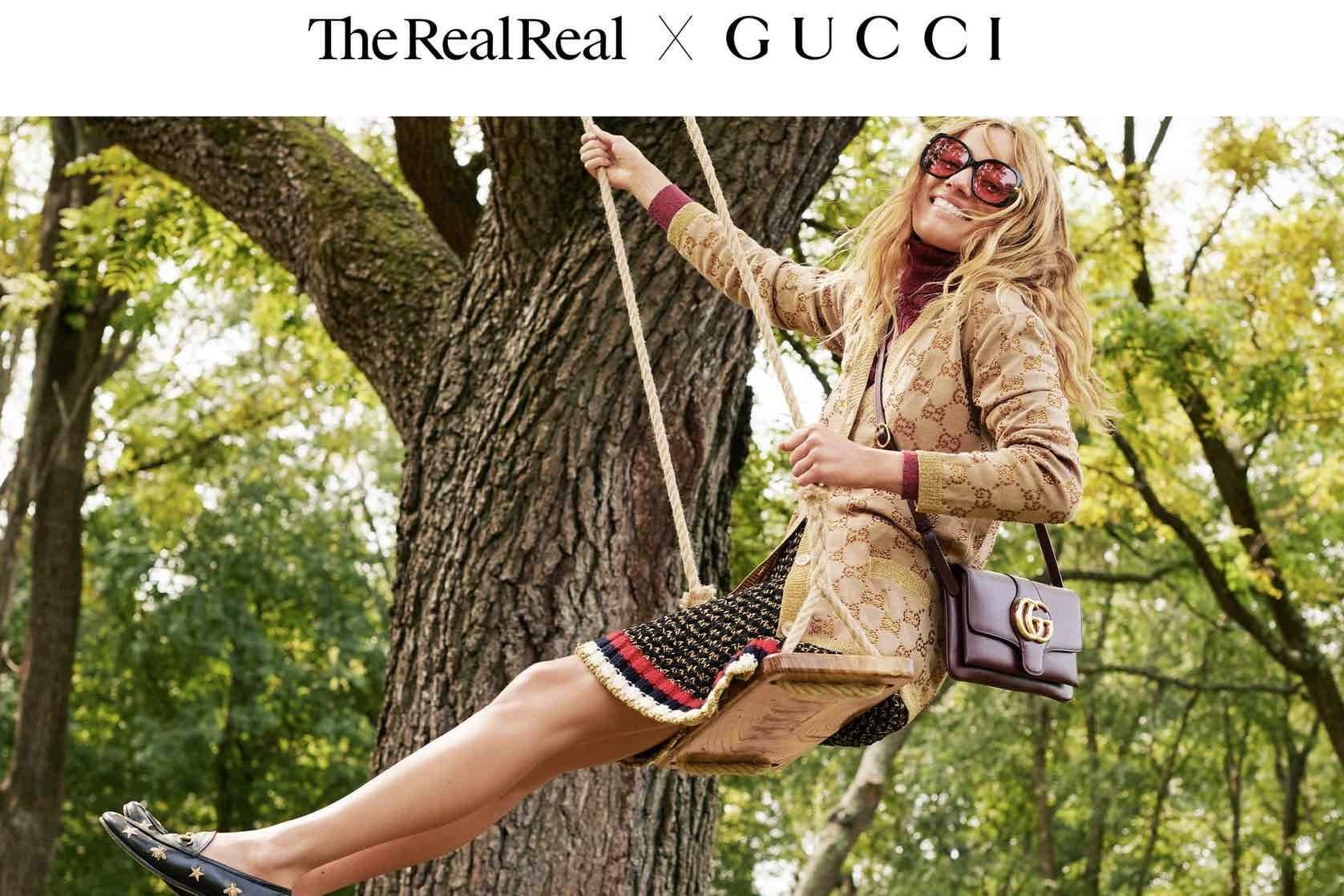 Gucci 为二手奢侈品交易正名:与美国奢侈品转售平台 The RealReal 展开正式合作