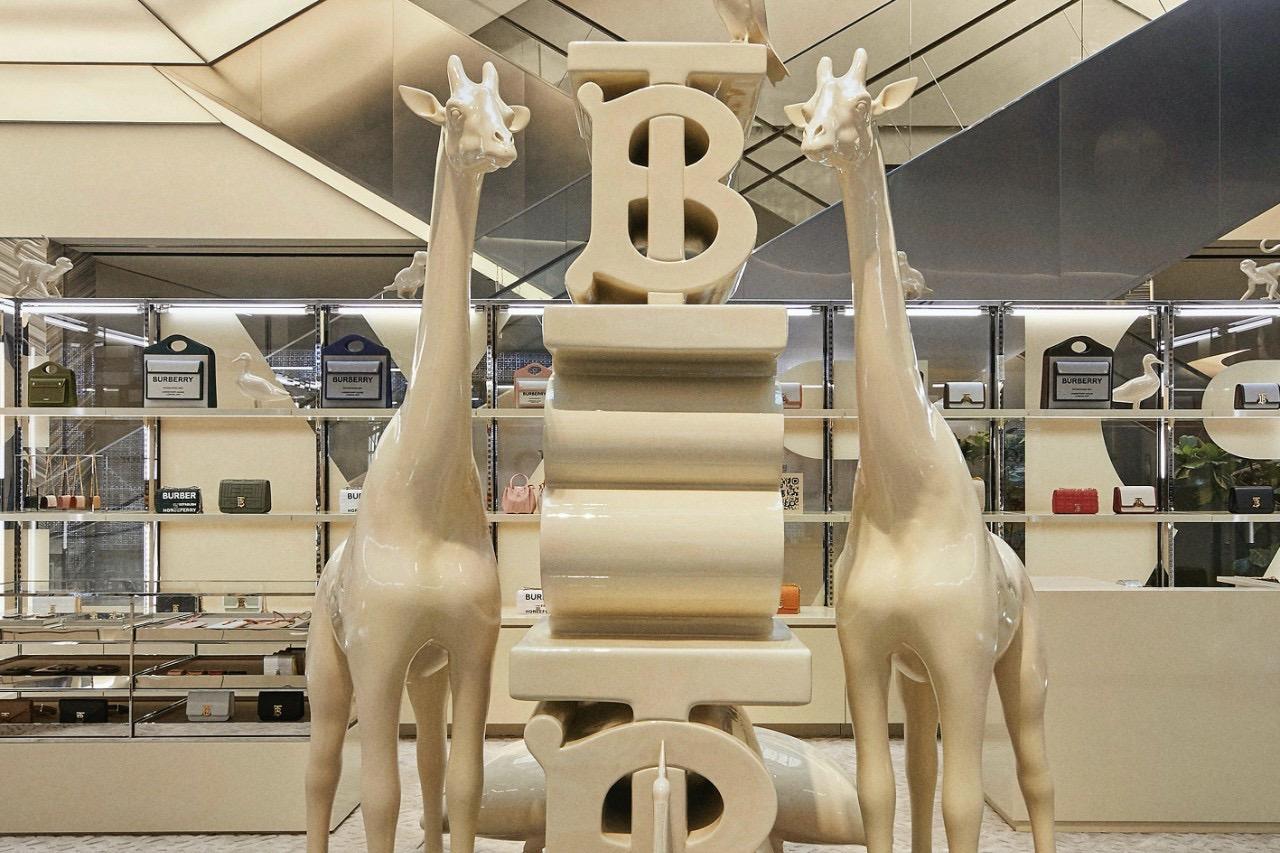 Burberry 动物主题快闪店进驻迪拜购物中心