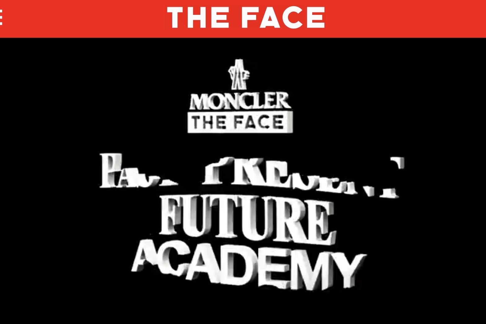 Moncler 联合英国杂志《THE FACE》推出创意人才培养项目Future Academy