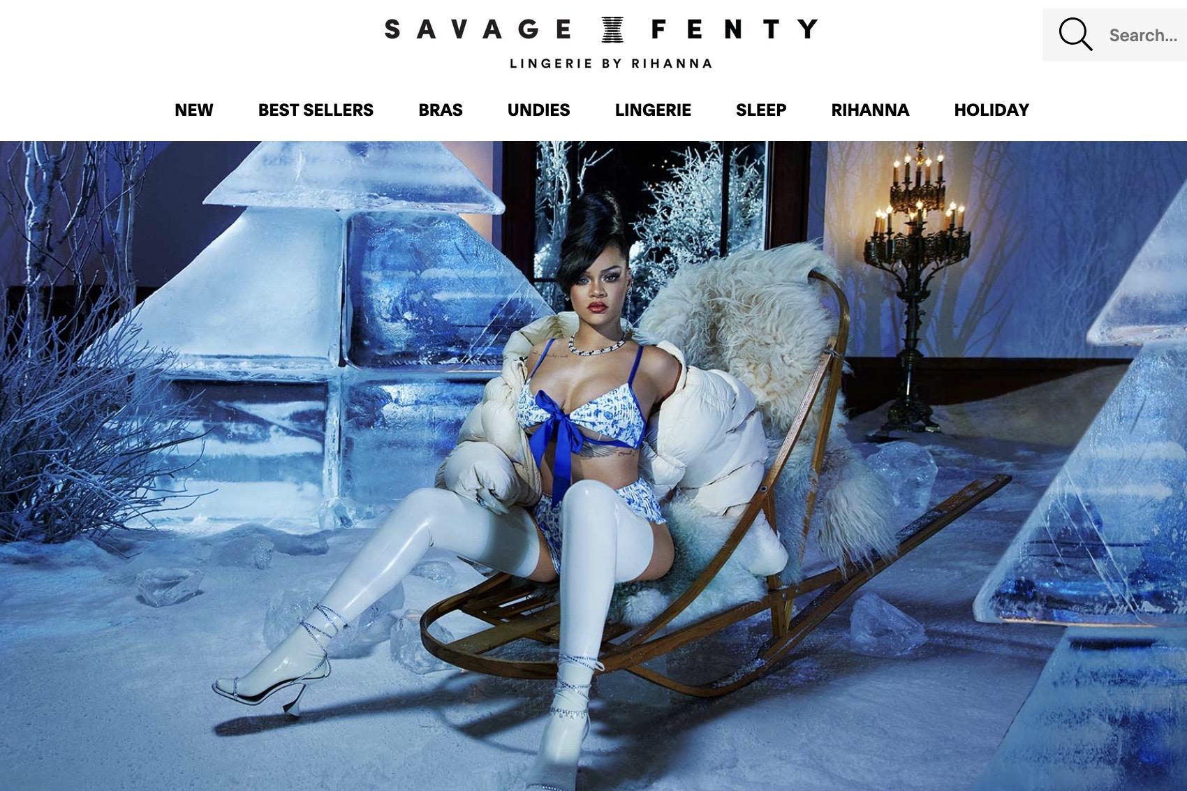 蕾哈娜的内衣品牌 Savage x Fenty 计划融资1亿美元,估值或达10亿美元