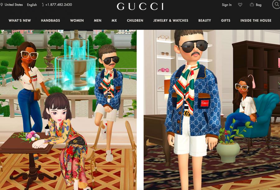 """Gucci 与虚拟社交应用""""崽崽 Zepeto"""" 合作,打造 Gucci梦幻别墅"""