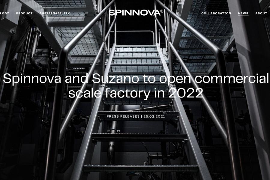 芬兰纤维技术公司 Spinnova与巴西木浆生产商合作建厂