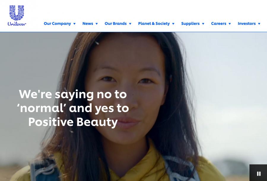 """联合利华宣布将""""normal""""(正常)一词从美容个护的包装和广告中删除"""