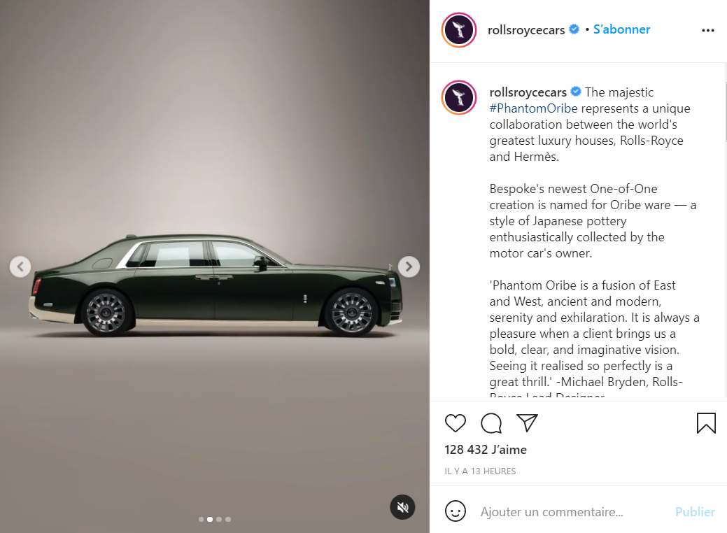 劳斯莱斯与爱马仕合作,为日本亿万富翁前泽友作打造专属汽车