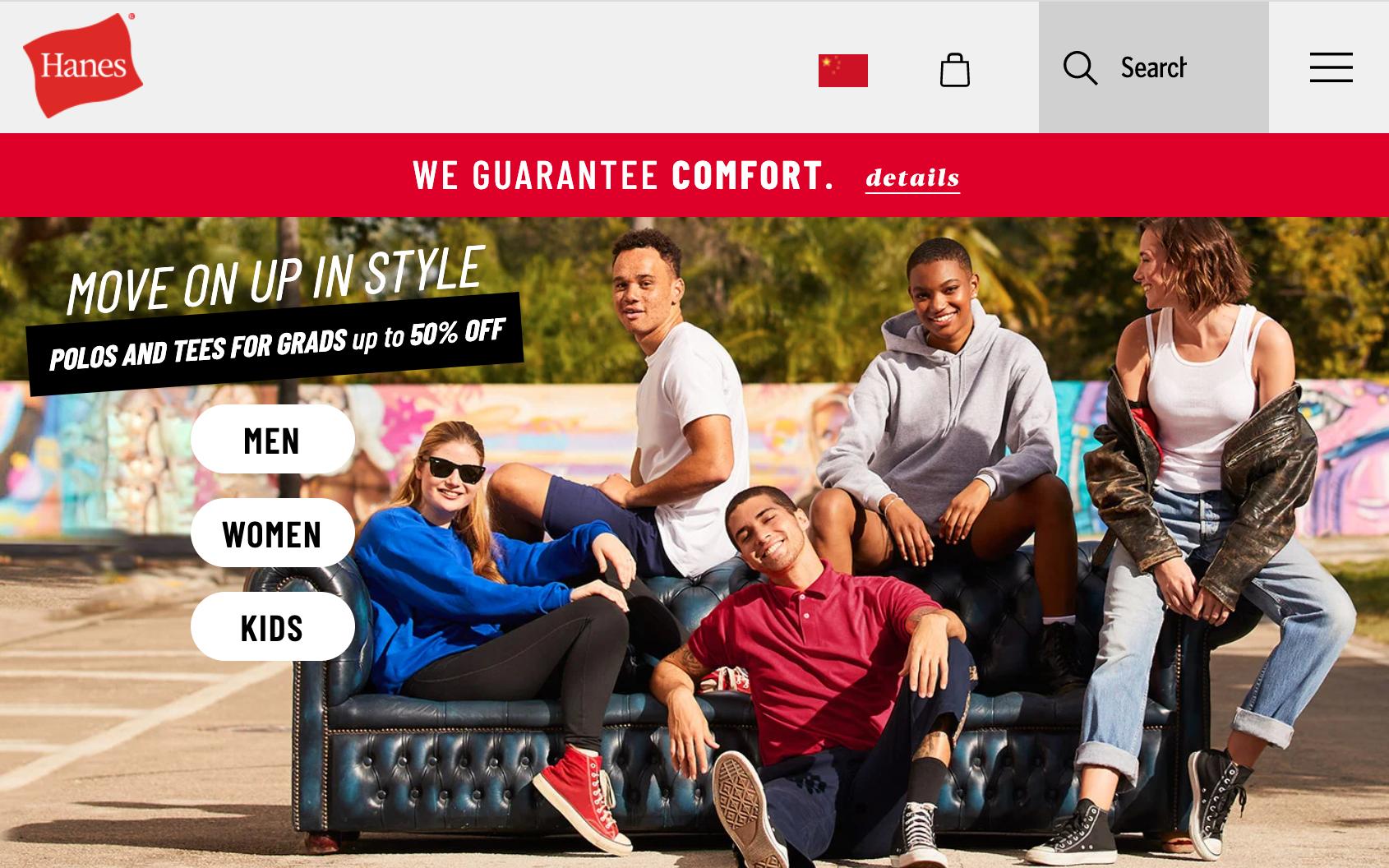 Champion 母公司 HanesBrands 一季度销售额同比增长25%,线上渠道大增82%