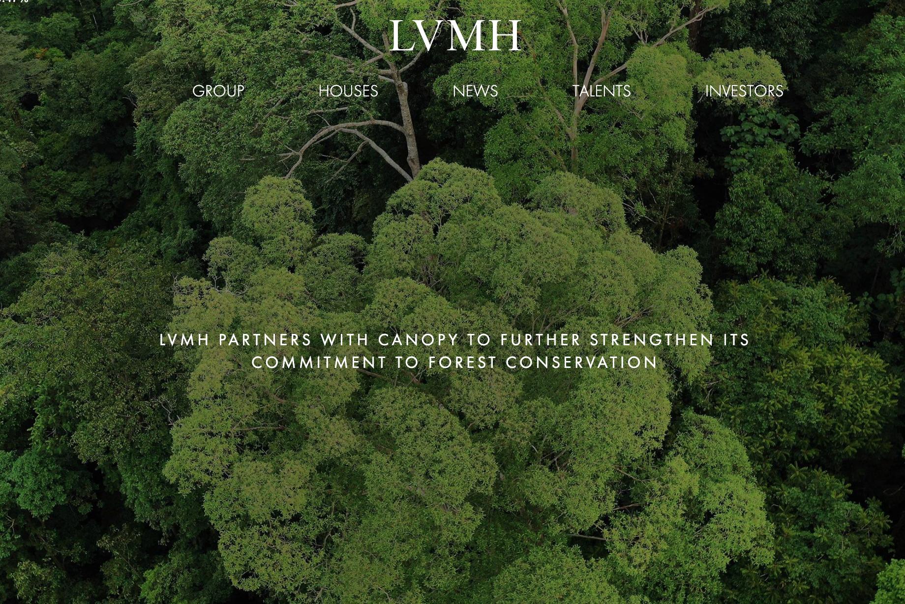 LVMH 与非营利环保组织Canopy 展开合作,推进环保包装,保护森林资源