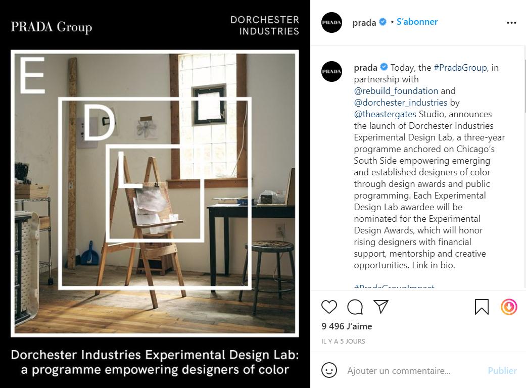 Prada 集团在芝加哥成立设计实验室并推出设计奖,赋能有色人种设计师